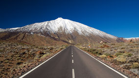 Rote to Pico de Teide Royalty Free Stock Photography