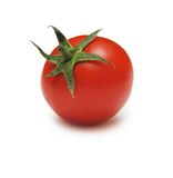 Rote Tomate getrennt Stockfoto