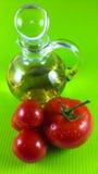 Rote Tomate und Olivenöl Stockfotos