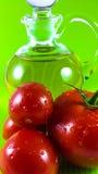 Rote Tomate und Olivenöl Lizenzfreies Stockfoto