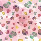 Rote Tone Heart Water-Farbtapete Lizenzfreie Stockfotos