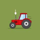 Rote Traktorkarikaturillustration Stockfotografie