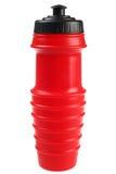 Rote trinkende Flasche Stockfoto