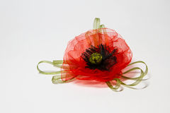 Rote Tulle-Mohnblume stockbild