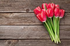 Rote Tulpe blüht Blumenstrauß Lizenzfreies Stockbild