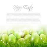 Rote Tulpe und farbige Eier Stockfotos