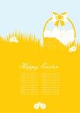 Rote Tulpe und farbige Eier lizenzfreie stockbilder
