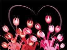 Rote Tulpen lizenzfreie abbildung