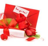 Rote Tulpen für Mutter Lizenzfreie Stockfotos