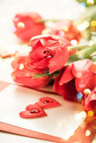 Rote Tulpen für Valentinstag Stockfoto