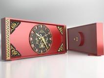 Rote Uhr Stockbild
