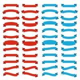 Rote und blaue Bänder lizenzfreie abbildung