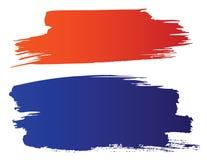 Rote und blaue grunge Pinsel Stockfotografie