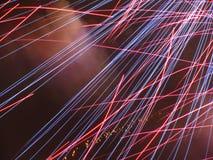 Rote und blaue Linien Stockfotografie