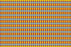 Rote und blaue Punkte mit gelbe Farbeabstraktem Vektor-Hintergrund stock abbildung
