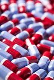 Rote und blaue Tablettenbeschaffenheit Stockbild