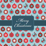 Rote und blaue Weihnachtsverpackung Stockfotos