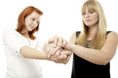 Rote und blonde behaarte Mädchen Lizenzfreies Stockfoto
