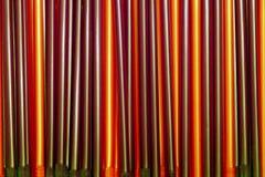 Rote und braune Rohre Stockbild