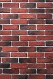 Rote und dunkle Backsteinmauer alte Backsteinmauer von roten Backsteinen Lizenzfreie Stockfotos