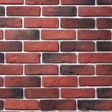 Rote und dunkle Backsteinmauer alte Backsteinmauer von roten Backsteinen Lizenzfreies Stockbild