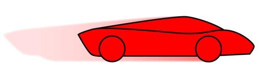 Rote und flinke Karikatur-schnelles Auto Lizenzfreie Stockfotos
