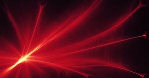 Rote und gelbe abstrakte Linien Kurven-Partikel-Hintergrund Lizenzfreie Stockbilder
