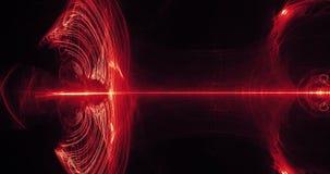 Rote und gelbe abstrakte Linien Kurven-Partikel-Hintergrund Lizenzfreies Stockfoto