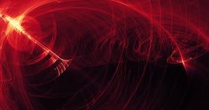 Rote und gelbe abstrakte Linien Kurven-Partikel-Hintergrund Lizenzfreie Stockfotos