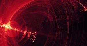Rote und gelbe abstrakte Linien Kurven-Partikel-Hintergrund Stockfotografie