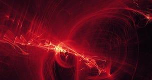Rote und gelbe abstrakte Linien Kurven-Partikel-Hintergrund Stockfotos