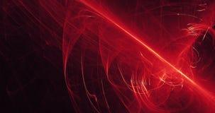 Rote und gelbe abstrakte Linien Kurven-Partikel-Hintergrund Stockbild