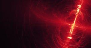 Rote und gelbe abstrakte Linien Kurven-Partikel-Hintergrund Stockfoto
