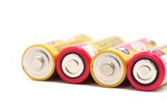 Rote und gelbe Batterien Lizenzfreie Stockfotos
