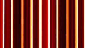 Rote und gelbe bewegende vertikale Linien auf schwarzem Hintergrund VJ-SCHLEIFE Gestreifter Hintergrund stock footage