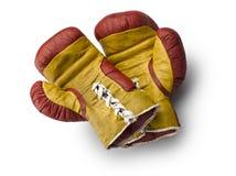 Rote und gelbe boxe Handschuhe Lizenzfreie Stockfotografie