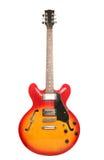 Rote und gelbe elektrische Gitarre Stockfotos
