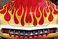 Rote und gelbe Flammen Lizenzfreies Stockfoto