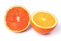 Rote und gelbe Orangen Stockbilder