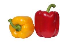 Rote und gelbe Pfeffer Lizenzfreies Stockfoto