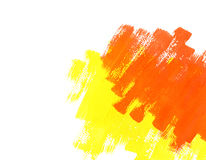 Rote und gelbe Wasser-Farben-Lack-Beschaffenheit Lizenzfreie Stockfotografie