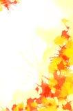 Rote und gelbe Wasser-Farben-Lack-Beschaffenheit Lizenzfreie Stockfotos