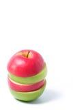 Rote und grüne Äpfel der Scheibe Lizenzfreies Stockfoto