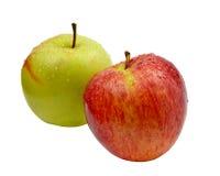 Rote und grüne Äpfel getrennt Stockfotos
