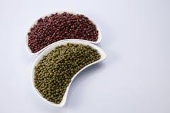Rote und grüne Bohnen Lizenzfreies Stockfoto