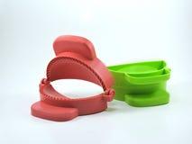 Rote und grüne Curry-Hauch-Presse-Form Lizenzfreie Stockbilder
