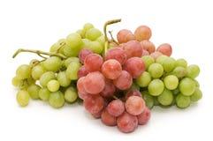 Rote und grüne frische Trauben getrennt Lizenzfreies Stockfoto