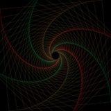 Rote und grüne geometrische Linie Kunstrahmen vektor abbildung