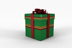 Rote und grüne Geschenkbox Stockfoto