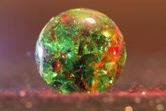 Rote und grüne Glaskugel 24 Lizenzfreie Stockbilder